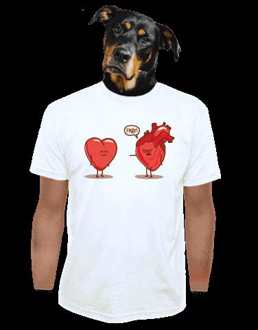 Srdeční záležitost bílé pánské tričko