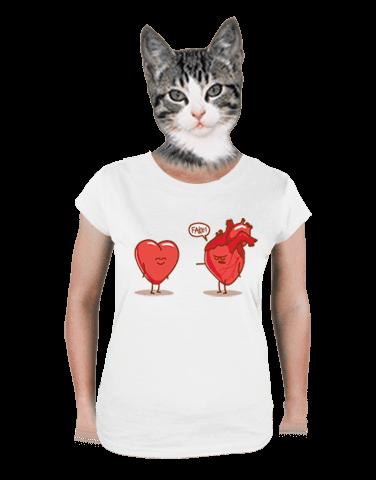 Srdeční záležitost bílé dámské tričko