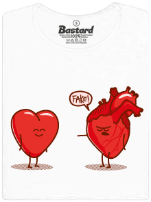 Bastard Srdeční záležitost bílé dámské tričko