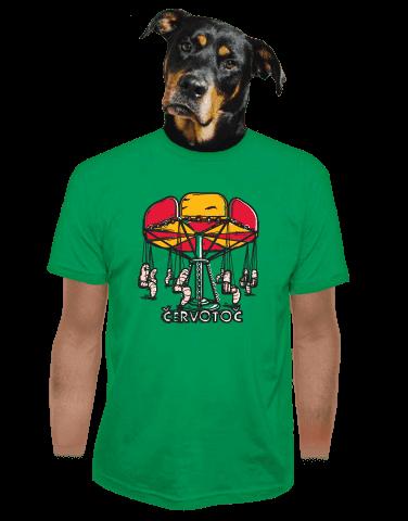 Červotoč zelené pánské tričko