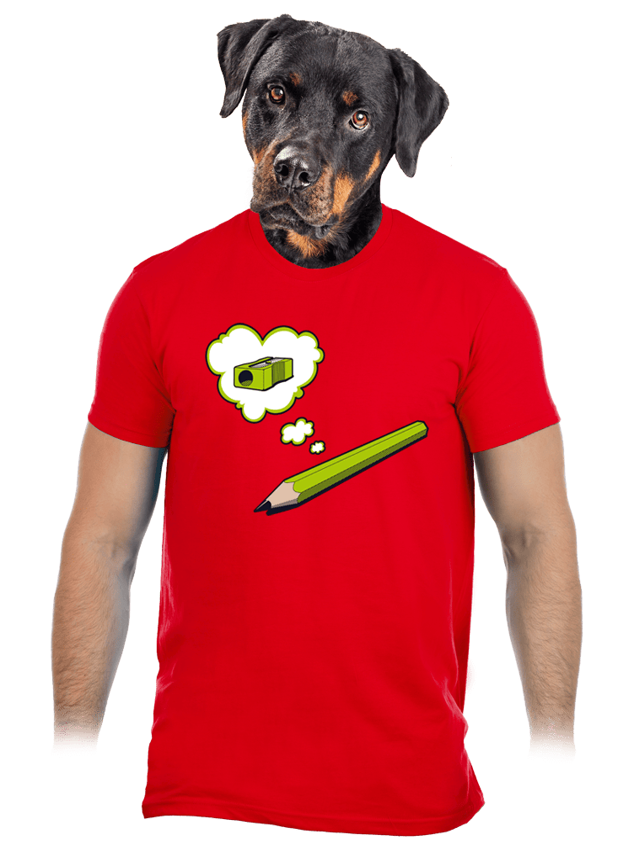 Tužka červené pánské tričko