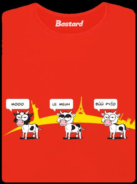 Bastard Ostravačka červené dámské tričko