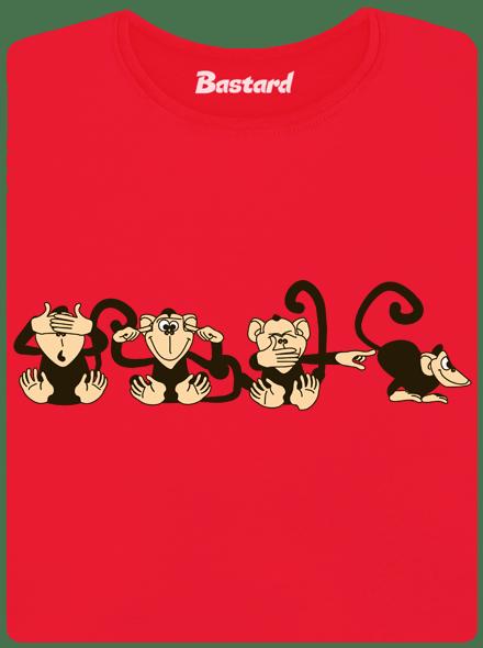 Bastard Opice červené dámské tričko