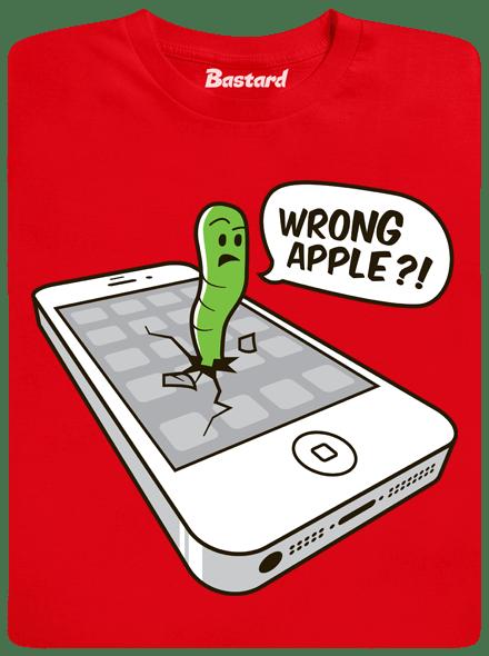 Bastard Wrong Apple červené pánské tričko