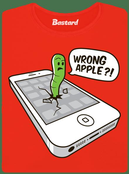 Bastard Wrong Apple červené dámské tričko
