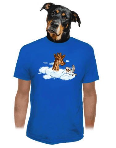 Žirafa v oblacích pánské tričko