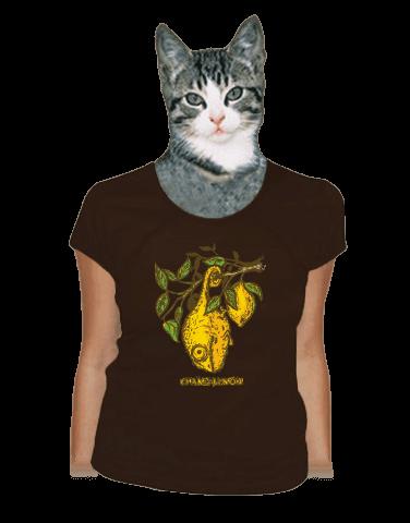 Citrón hnědé dámské tričko