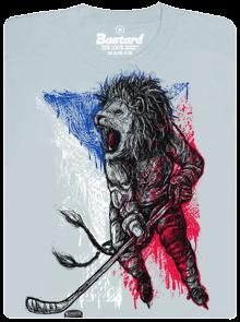 Bastard Hokejový lev šedé pánské tričko