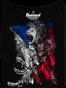 Bastard Hokejový lev černé dámské tričko lodičkové