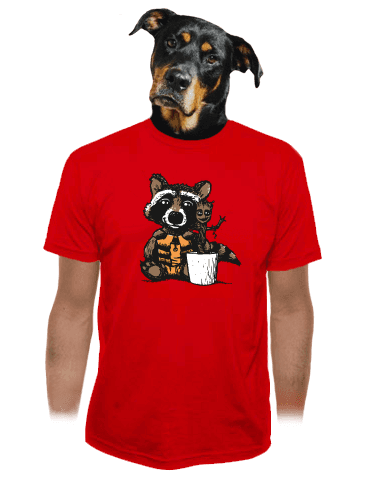 Strážci galaxie červené pánské tričko