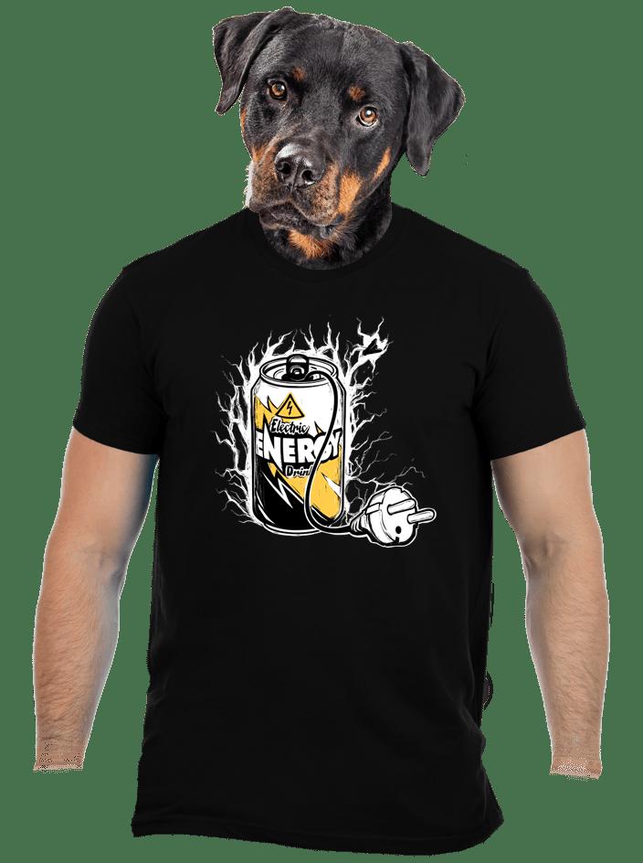Energy drink černé pánské tričko