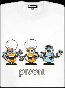Bastard Pivoni bílé dámské tričko