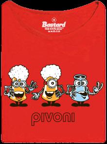 Bastard Pivoni červené dámské tričko