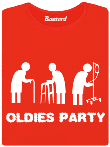 Bastard Oldies party červené dámské tričko