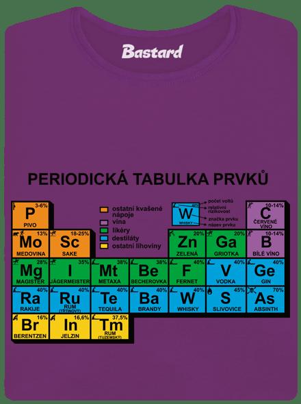 Bastard Periodická tabulka fialové dámské tričko