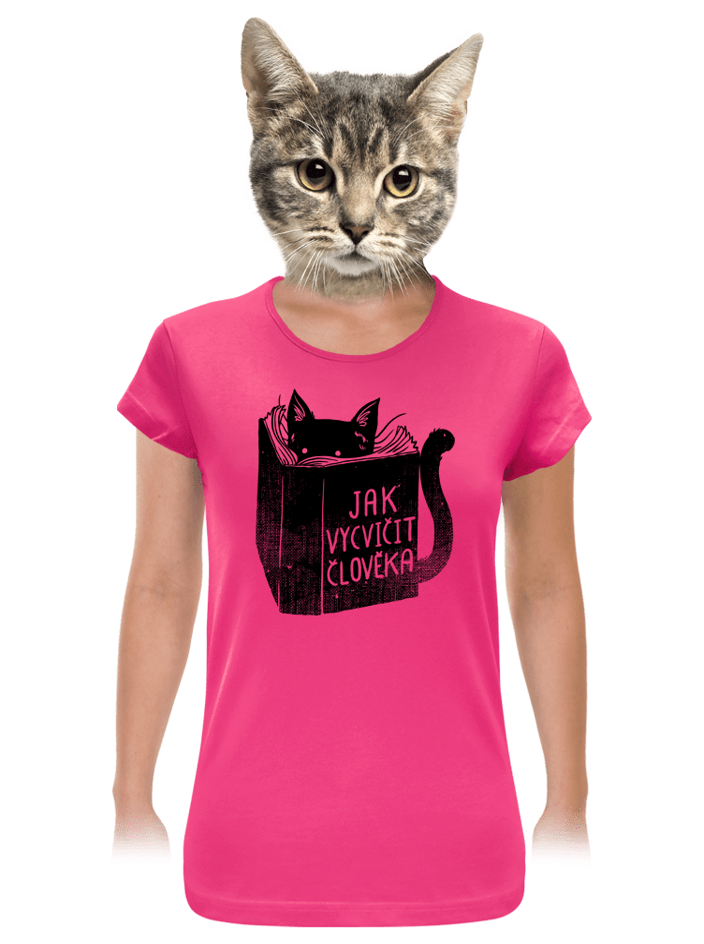Povinná četba fuchsiové dámské tričko