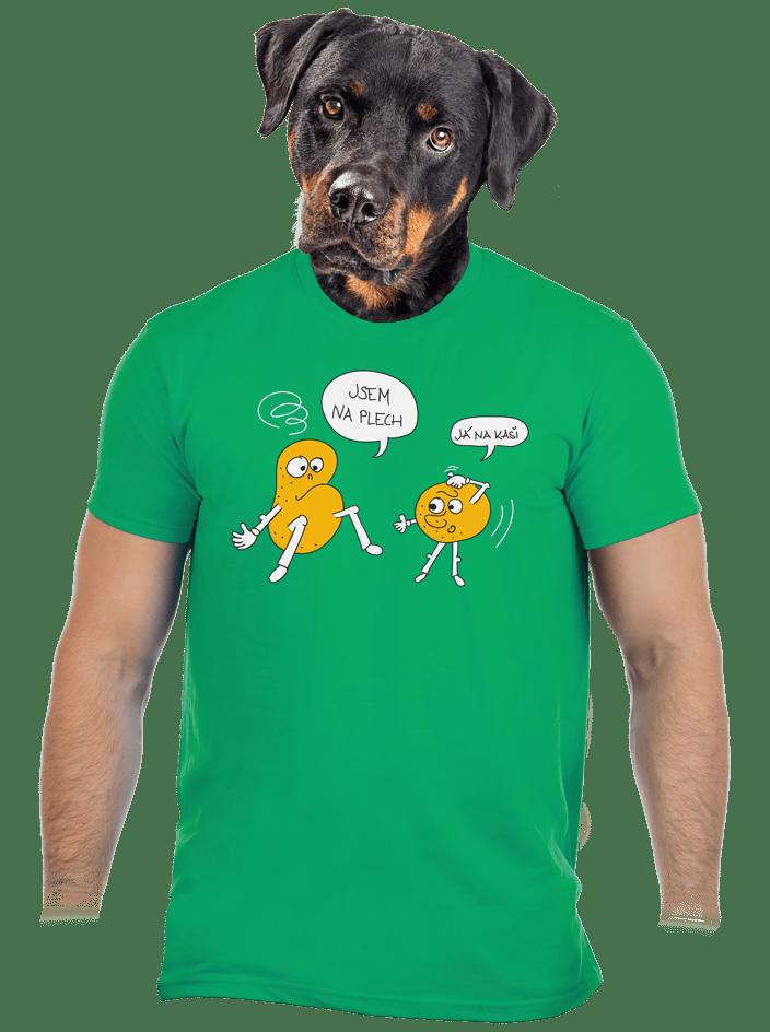 Opilé brambory zelené pánské tričko
