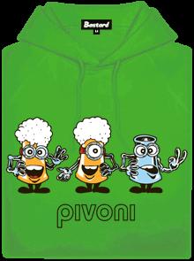 Bastard Pivoni zelená pánská mikina