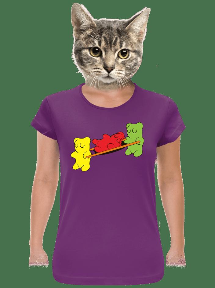 Gumídci fialové dámské tričko