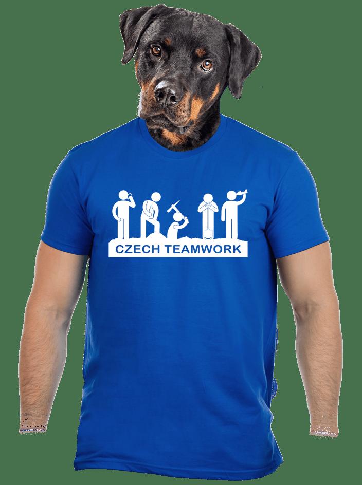 Czech Teamwork modré pánské tričko