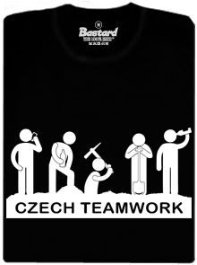 Bastard Czech Teamwork černé pánské tričko