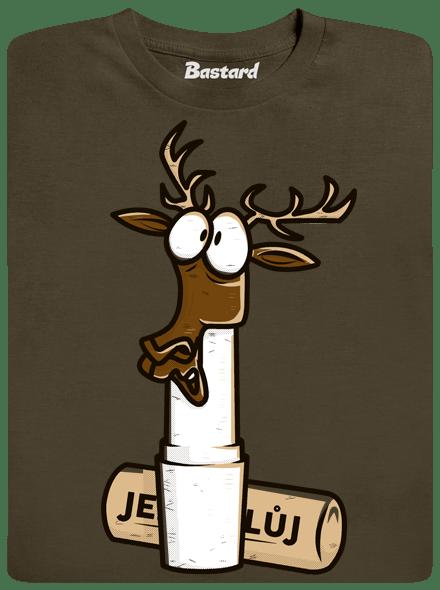 Bastard Jelení lůj zelené pánské tričko