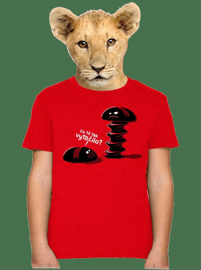 Vytočenej dětské tričko
