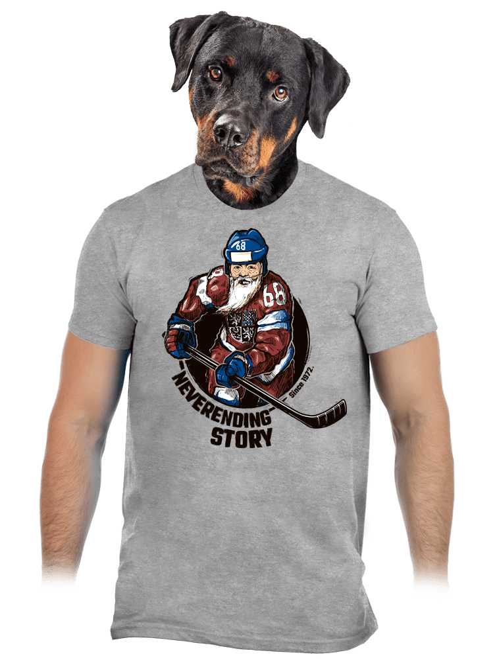 Jarda Forever šedé pánské tričko