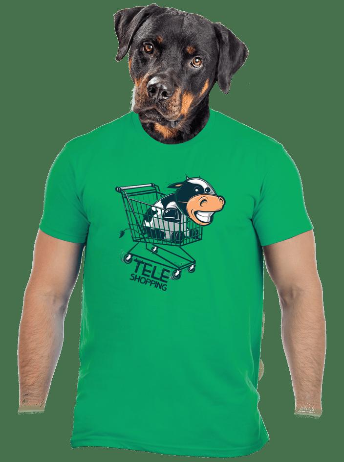 Teleshopping zelené pánské tričko