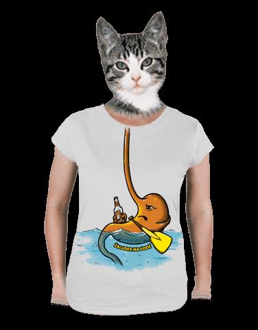 Žaludek na vodě dámské tričko