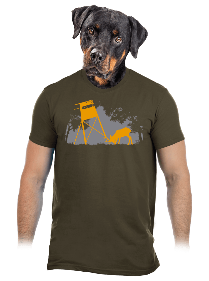 Lesní harmonie khaki pánské tričko
