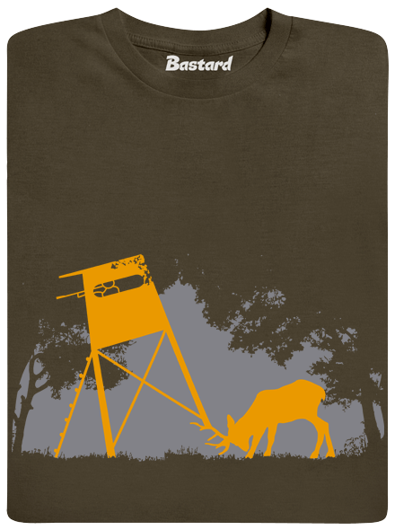 Bastard Lesní harmonie khaki pánské tričko