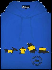 Bastard Testováno modrá pánská mikina