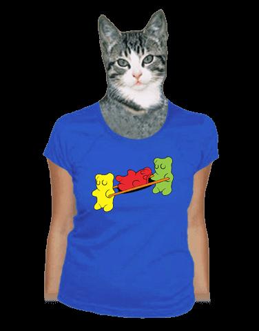 Gumídci modré dámské tričko