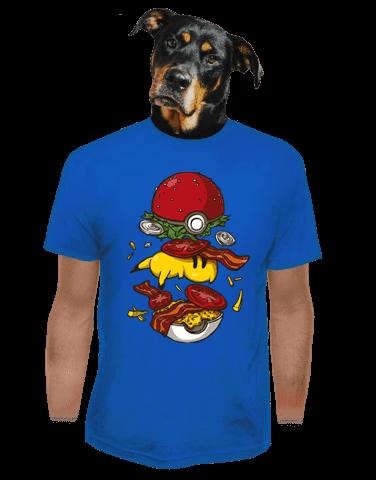 Pokémon burger modré pánské tričko