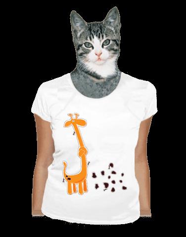 Žirafa dámské tričko