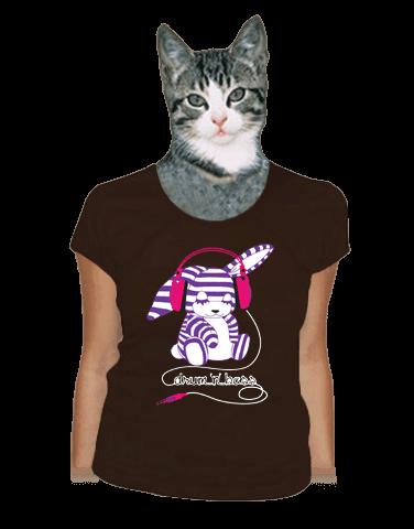 Drum'n'bass hnědé dámské tričko