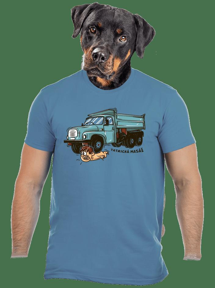 Tatrická masáž modré pánské tričko - nový střih