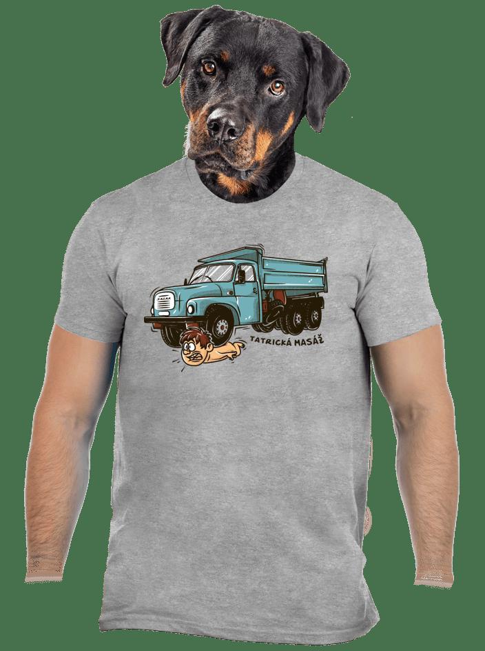 Tatrická masáž šedé pánské tričko - nový střih