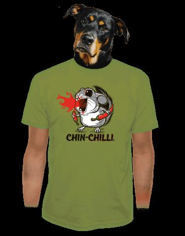 Chinchilli zelené pánské tričko