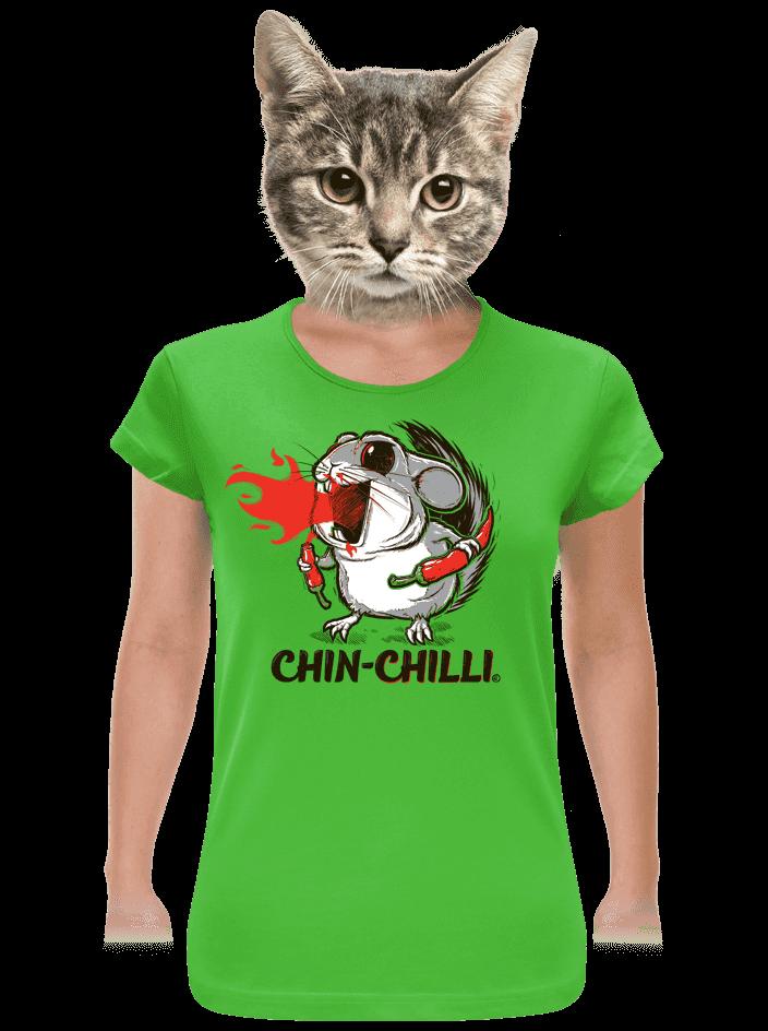 Chinchilli zelené dámské tričko