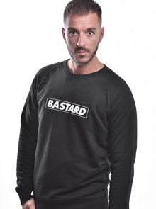 Bastard B 10 černá pánská mikina