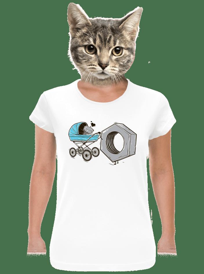 ad97e618307f Správná matka bílé dámské tričko
