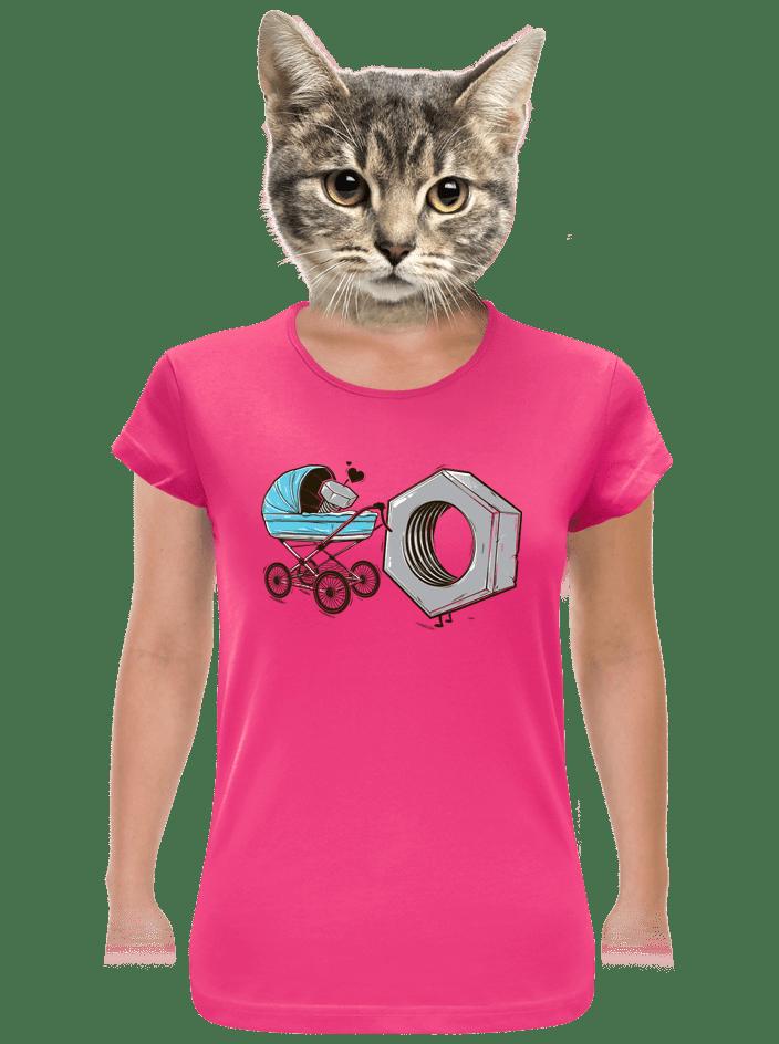 Správná matka fuchsiové dámské tričko