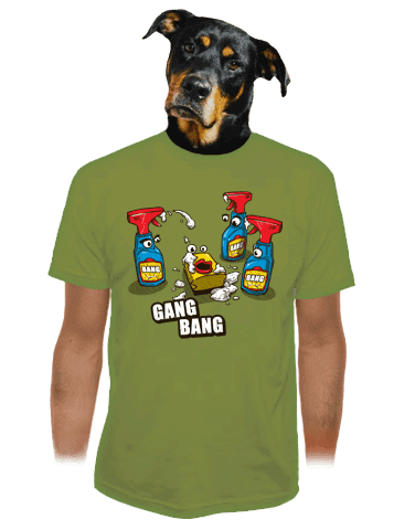Gang Bang zelené pánské tričko