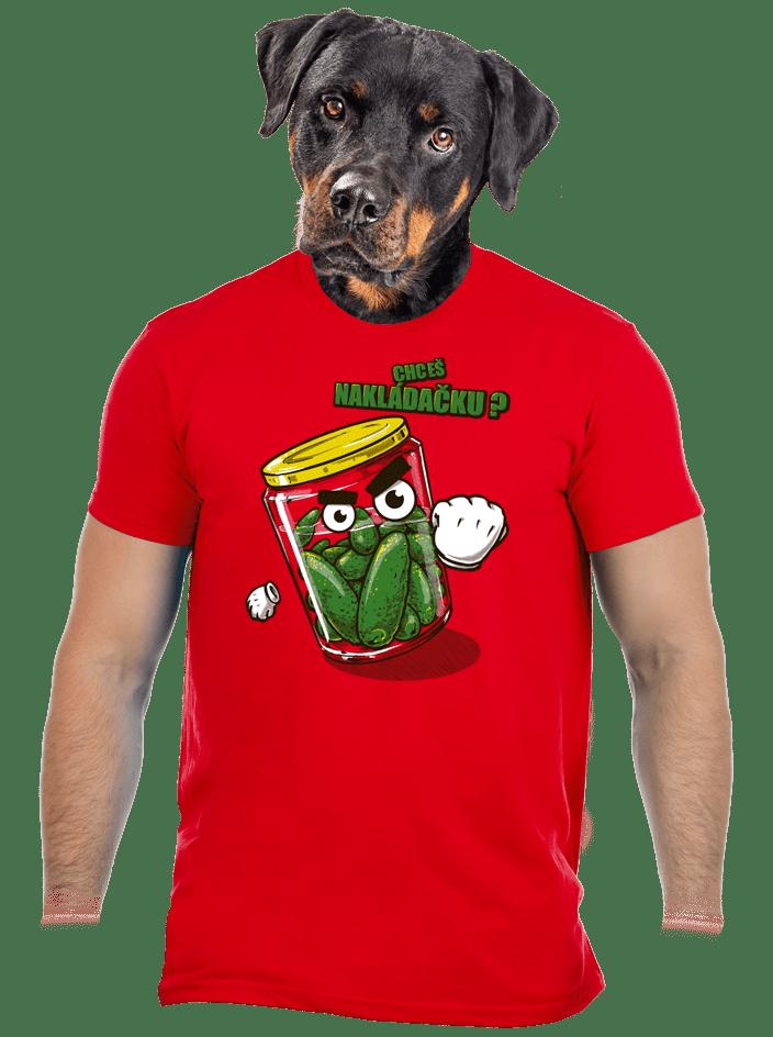 Nakládačka červené pánské tričko