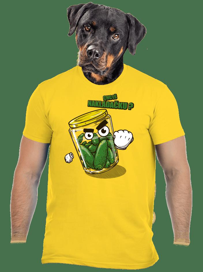 Nakládačka žluté pánské tričko
