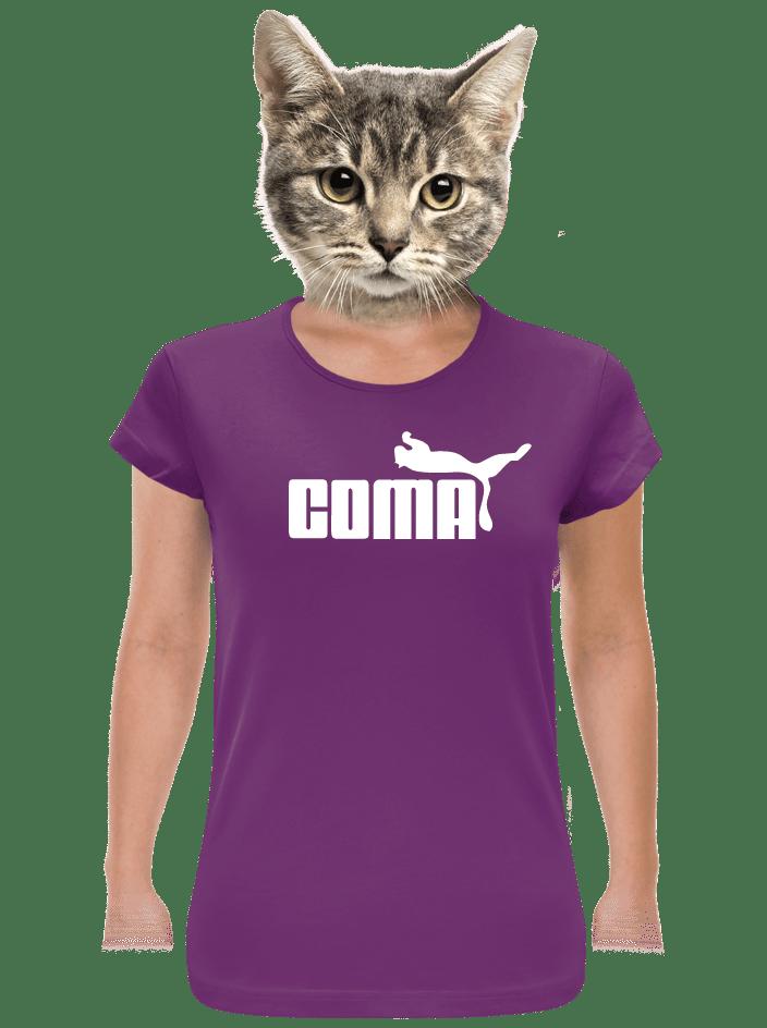 Coma fialové dámské tričko