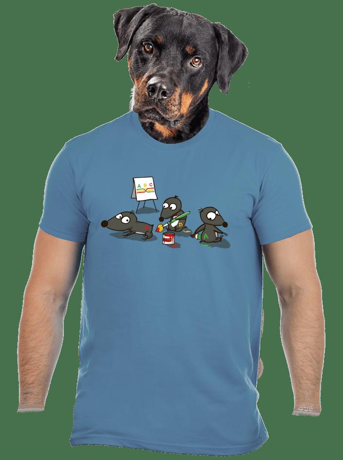 Pražský krtek modré pánské tričko