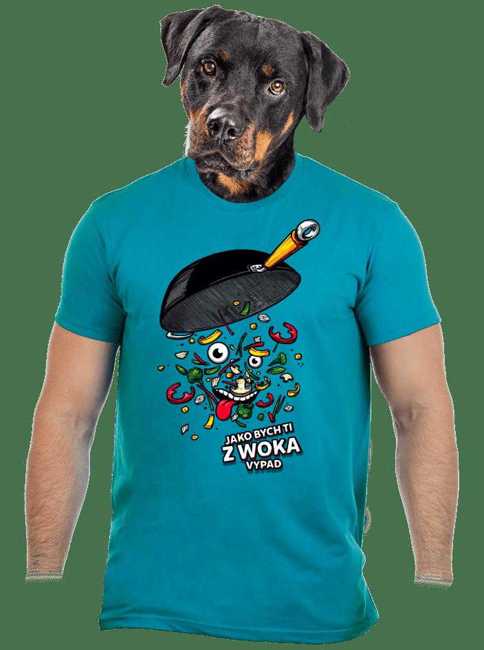 Pan Wok modré pánské tričko
